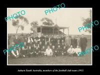 OLD LARGE HISTORIC PHOTO OF AUBURN SOUTH AUSTRALIA THE FOOTBALL TEAM c1911