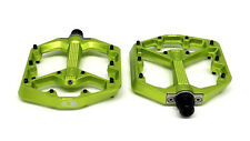 Crank Brothers STAMP 7 Platform Mountain Bike Pedals, Small, Green
