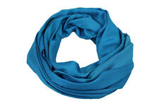 Teal Blue High Quality Pashmina Scarf Shawl Stole Wrap Hijab 100% Viscose
