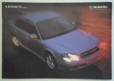 SUBARU LEGACY 2.5 LITRE SALOON orig 1999 UK Mkt Sales Brochure