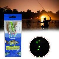 5Pcs Night Luminous Sabiki Soft Fishing Lure Fishhook Feather Shaped Octopu K5I7