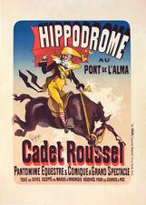 l'Hippodrome Cadet Roussel by Jules Cheret 90cm x 64cm Art Paper Print