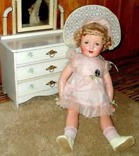 "RARE! Antique 28"" Composition SHIRLEY TEMPLE ""MISS CHARMING"" Doll"