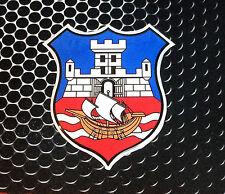 Beograd Belgrade Crest Domed Oval Window Decal Vinyl Car Sticker 3D Srbija