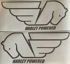 Buell Pegasus Outlines Decals. Silver. 1Pair. Or choose your color.