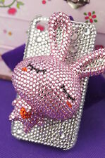 I-54 iPhone 4 XXL Bunny Rabbit 3D Hard Cover rhinestone-stone Case