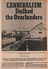 Cannibalism Stalked The Overlanders+Blackfeet,Charles,Dallas,Elstone,Giscome