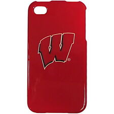 Wisconsin Badgers Apple iPhone 4 4S NCAA Faceplate Case Plastic Hard Snap Cover