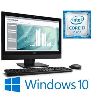 """Dell Optiplex 7450 AIO i7 7700 16G 256G SSD WiFi Radeon R7 23.8"""" Touch Win 10"""