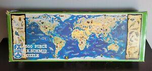 FX Schmid Puzzle 7500 pieces Extinct, Protected, Endangered Wildlife World 8x3ft
