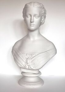 LG COPELAND PRINCESS ALEXANDRA Antique Parian Bust Crystal Palace Art Union 1863