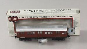 "Proto 1000 30020 HO ""Red Bird"" NYC Transit R17 Subway Car LN/Box"