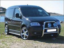 VW Caddy / Maxi 2004 - 2010 S/S Front Abar Light Bull Bar A + Black Spot Lamps