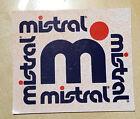 vintage mistral sticker adesivo anni 80 deadstock tennis