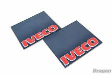 To Fit Iveco UV Rubber Rear Mudflap Mudguards Mud Flaps Red 60x50cm Set of 2