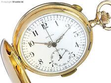 "Taschenuhr ""Invicta"" Gold Repetition und Chronograph"