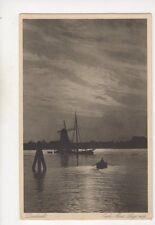 Dordrecht Oude Maas Lage Zon Netherlands Vintage Postcard 477b