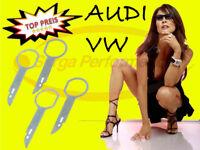 4 x Entriegelungshaken VW Audi Seat Skoda Radios Navis