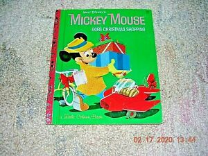 Mickey Mouse Goes Christmas Shopping Little Golden Book D33 7th (G) EDITION