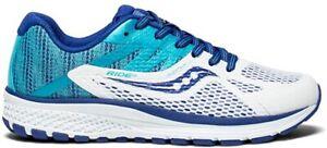 Saucony Boy's Ride 10 Running Shoe, Blue/White, 4.5 M US Big Kid