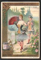 Italy Carnival  Stenterellina Costume Festival 1892 Trade Ad Card