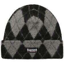 83663f68 SUPREME Argyle Mohair Beanie Black box logo camp cap tnf cdg F/W 15