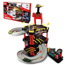 Toy Cars Race Track Kids Parking Garage Lot Play Helicopter Multi Storey Fast