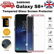 For Samsung S8+ Screen Protector REAL Glass 9H Hardness Full Coverage Rose Pink
