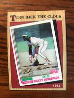 1987 Topps #311 Rickey Henderson Baseball Card TBTC Oakland Athletics A's Raw