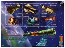 AD ASTRA (To The Stars) NASA & Russian Spacecraft Space Stamp Sheet (2000 Ghana)