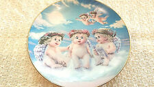 "The Hamilton Collection ""The Flying Lesson"" Dreamiscles Angel Cherub Plate 1994"