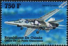 USAF General Dynamics F-111 AARDVARK Fighter-Bomber Aircraft Stamp (2002 Guinea)