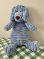 JELLYCAT - Cordy Roy Dog J1144 - Soft Blue Beanie - Retired 2013 VGC