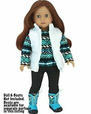 """Print Sweater,Stirrup Pant, Vest Or Boots 18"""" Doll Clothes Fit American Girl"""