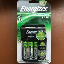 Energizer Base AA & AAA Charger With 4 AA 1300 mAh Rechargeable Batteries ACCU