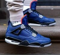 Nike Air Jordan 4 Retro Winterized Loyal Blue CQ9745-401 Size Woman's 8 | 6.5Y