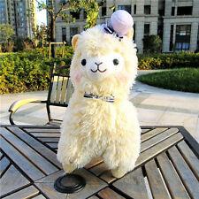 "Amuse Arpakasso Alpacasso Alpaca Yellow 14"" Plush Toy With Hat Adorable"