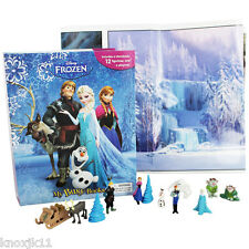 NEW Disney FROZEN MY BUSY BOOK & 12 FIGURINES & PLAY MAT TOY Set Cake Toppers