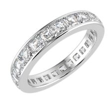 Clearance F/VS 2.00 Ct Asscher Diamond Full Eternity Ring in Hallmarked Platinum