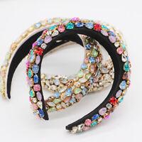 Baroque Ladies Embellished Headband Hairband Full Jewelled Hair Tiara Crown Prom