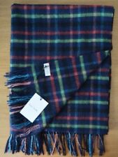 PAUL SMITH check blue green red yellow check Lambswool & Cashmere blanket scarf