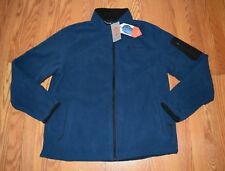NWT MENS FREE COUNTRY Cold Blue Fleece Microtech Full Zip Jacket Sz S $55