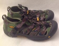KEEN Newport H2 Sandals Youth Boy Sz 4 Green Camo Camouflage Waterproof
