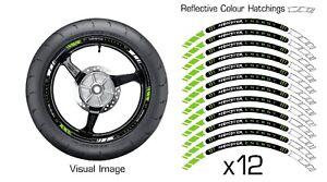 GREEN CLAW ENERGY REFLECTIVE MOTORBIKE WHEEL STICKER RIM DECAL VINYL 006