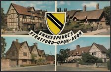 AX4797 England - Stratford-upon-Avon - Shakespeare's - Views - Postcard