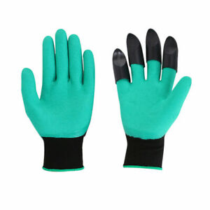 Garden Gloves Digging Planting Gloves with 4 ABS Plastic Claws UK Stock