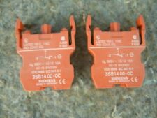 Siemens 3SB1400-0C Pushbutton Contact Block 1 NC. 3SB14000C, (quantity 2)