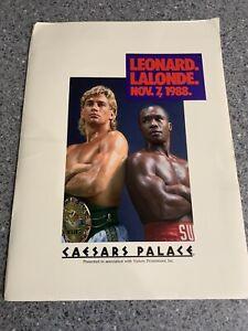 Sugar Ray Leonard V Donny Lalonde Media Kit Press Pack. Boxing Memorabilia