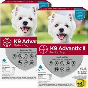 K9 ADVANTIX II FLEA & TICK FOR DOGS 11-20 LB 12 DOSES SHIPS FROM USA EPA APPR.