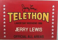 "JERRY LEWIS' PERSONALLY OWNED/USED 1988 MDA TELETHON ""ALL AREAS"" ACCESS ID BADGE"